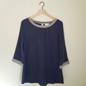 Soft Surroundings Silk Tunic with Keyhole Back